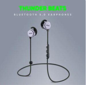 mivi thunder beats bluetooth earphone